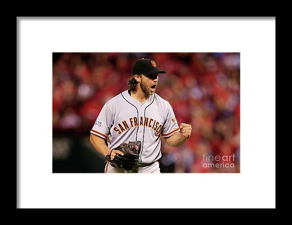 Celebration Framed Print featuring the photograph Madison Bumgarner by Jamie Squire