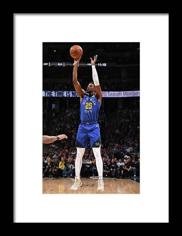 Playoffs Framed Print featuring the photograph Malik Beasley by Garrett Ellwood
