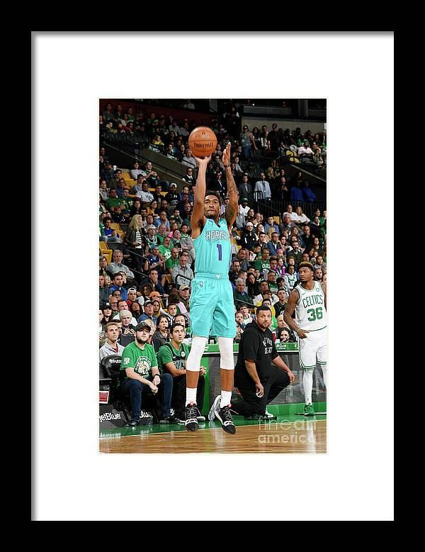 Nba Pro Basketball Framed Print featuring the photograph Malik Monk by Brian Babineau