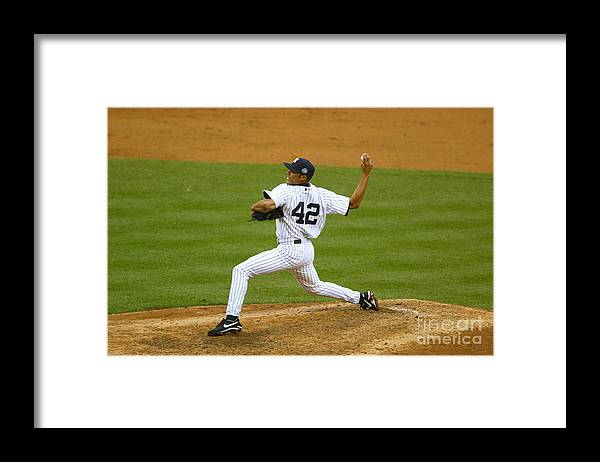 American League Baseball Framed Print featuring the photograph Mariano Rivera by Al Bello