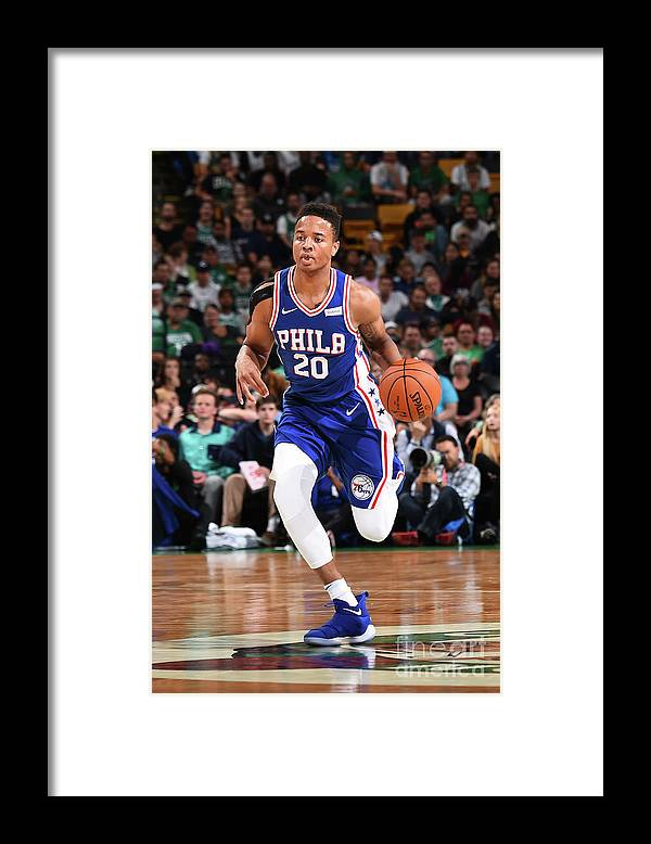 Nba Pro Basketball Framed Print featuring the photograph Markelle Fultz by Brian Babineau