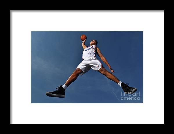 Nba Pro Basketball Framed Print featuring the photograph Markelle Fultz by Jesse D. Garrabrant