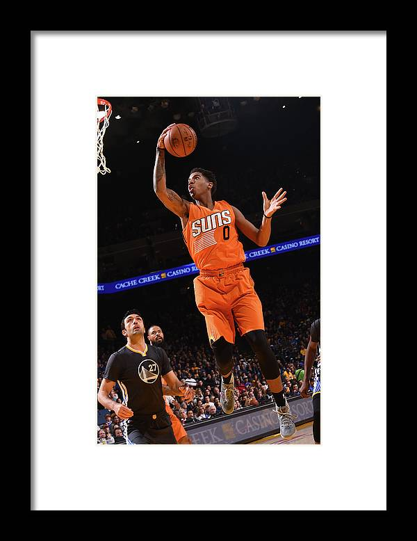 Nba Pro Basketball Framed Print featuring the photograph Marquese Chriss by Noah Graham
