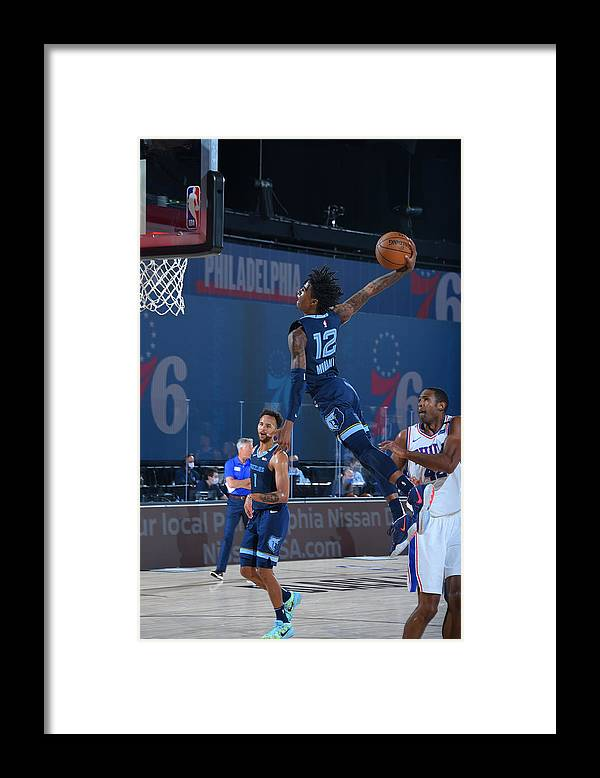Nba Pro Basketball Framed Print featuring the photograph Memphis Grizzlies v Philadelphia 76ers by Bill Baptist
