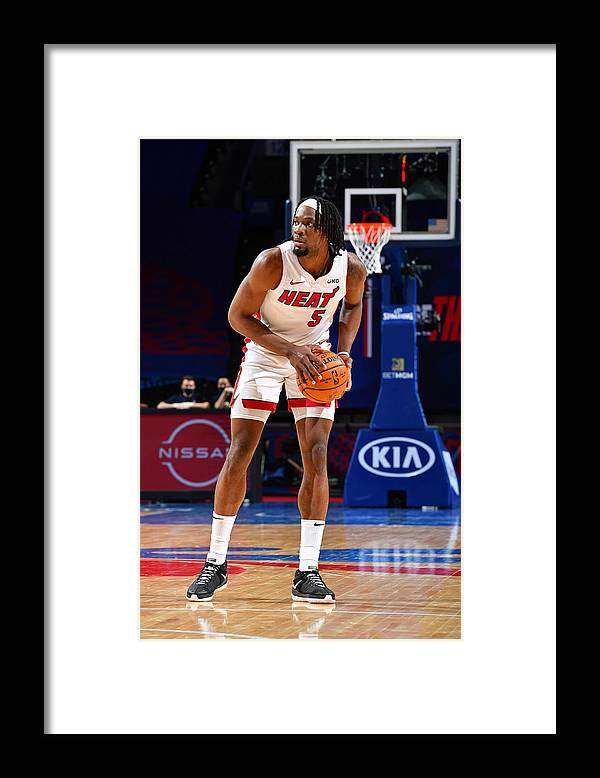 Nba Pro Basketball Framed Print featuring the photograph Miami Heat v Philadelphia 76ers by Jesse D. Garrabrant