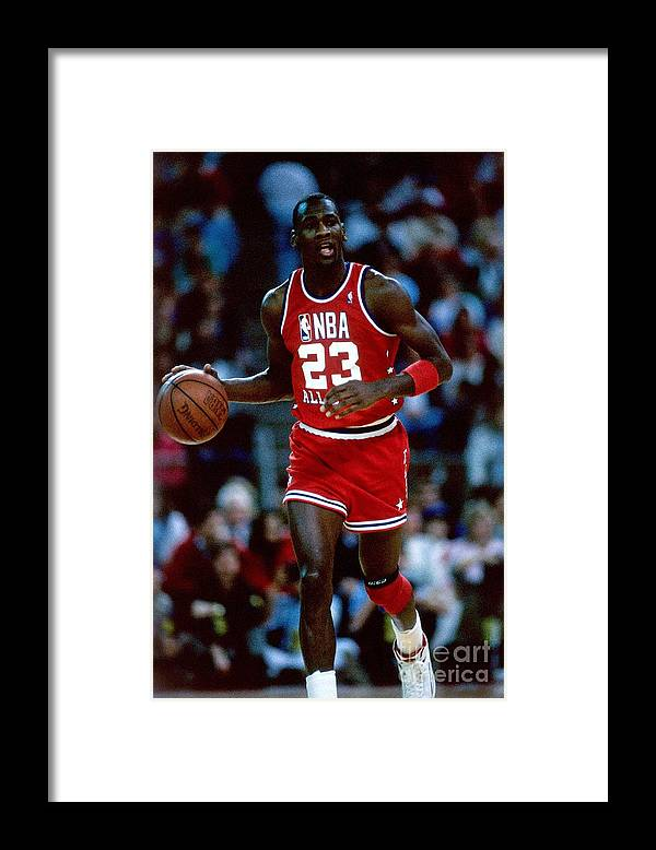 1980-1989 Framed Print featuring the photograph Michael Jordan by Andrew D. Bernstein