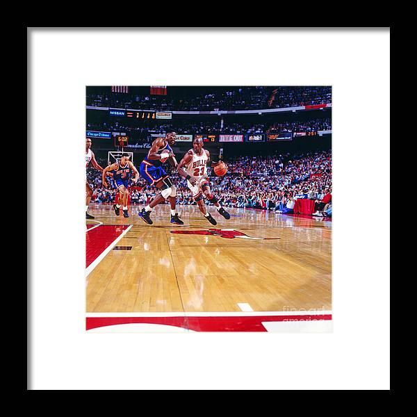 Nba Pro Basketball Framed Print featuring the photograph Michael Jordan by Nathaniel S. Butler