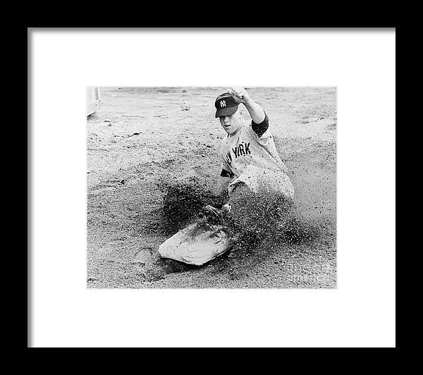 Dust Framed Print featuring the photograph Mickey Mantle by National Baseball Hall Of Fame Library