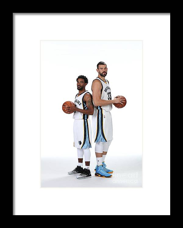 Media Day Framed Print featuring the photograph Mike Conley by Joe Murphy