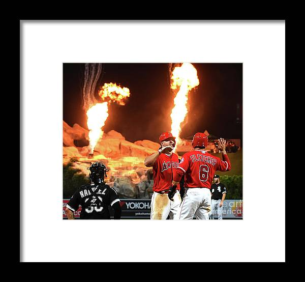 People Framed Print featuring the photograph Mike Trout by Jayne Kamin-oncea