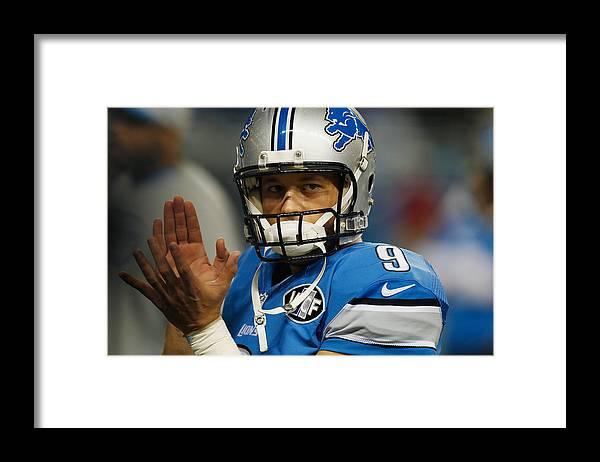 Detroit Framed Print featuring the photograph Minnesota Vikings v Detroit Lions by Gregory Shamus