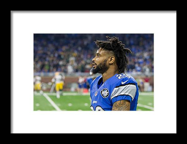 Green Bay Framed Print featuring the photograph NFL: JAN 01 Packers at Lions by Icon Sportswire