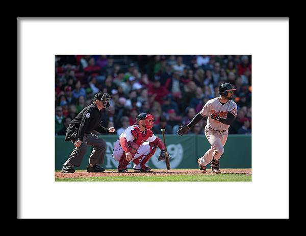 East Framed Print featuring the photograph Nick Markakis by Rob Tringali