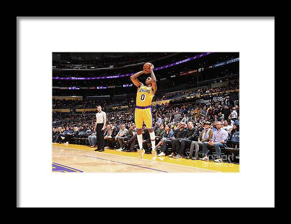 Nba Pro Basketball Framed Print featuring the photograph Nick Young by Andrew D. Bernstein