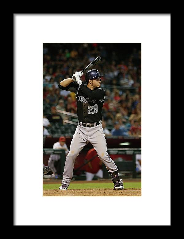 People Framed Print featuring the photograph Nolan Arenado by Christian Petersen