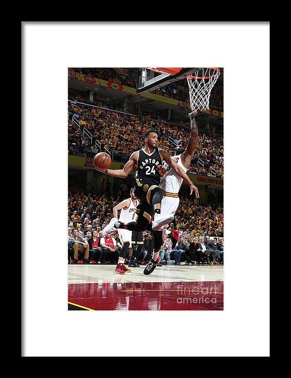 Playoffs Framed Print featuring the photograph Norman Powell by Nathaniel S. Butler