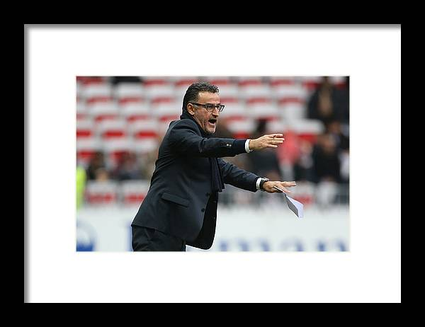 As Saint-etienne Framed Print featuring the photograph OGC Nice v AS Saint-Etienne - Ligue 1 by Jean Catuffe