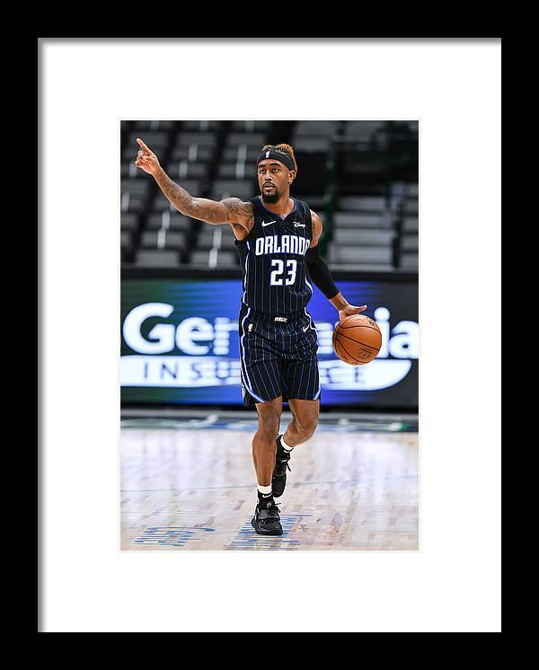 Jordan Bone Framed Print featuring the photograph Orlando Magic v Dallas Mavericks by Glenn James