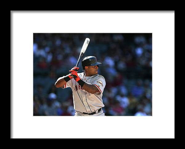 Pablo Sandoval Framed Print featuring the photograph Pablo Sandoval by Christian Petersen