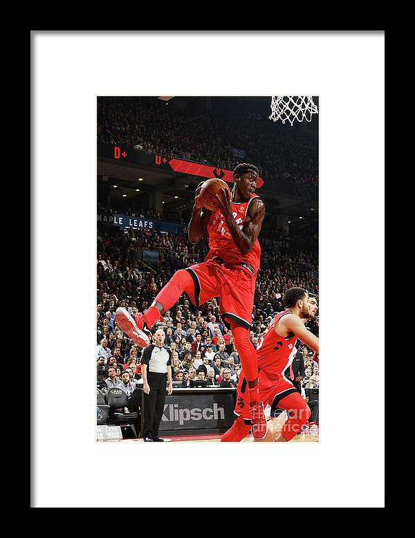 Nba Pro Basketball Framed Print featuring the photograph Pascal Siakam by Ron Turenne