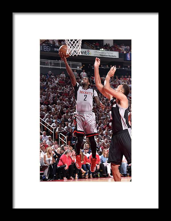 Playoffs Framed Print featuring the photograph Patrick Beverley by Bill Baptist