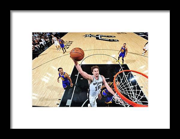 Nba Pro Basketball Framed Print featuring the photograph Pau Gasol by Mark Sobhani
