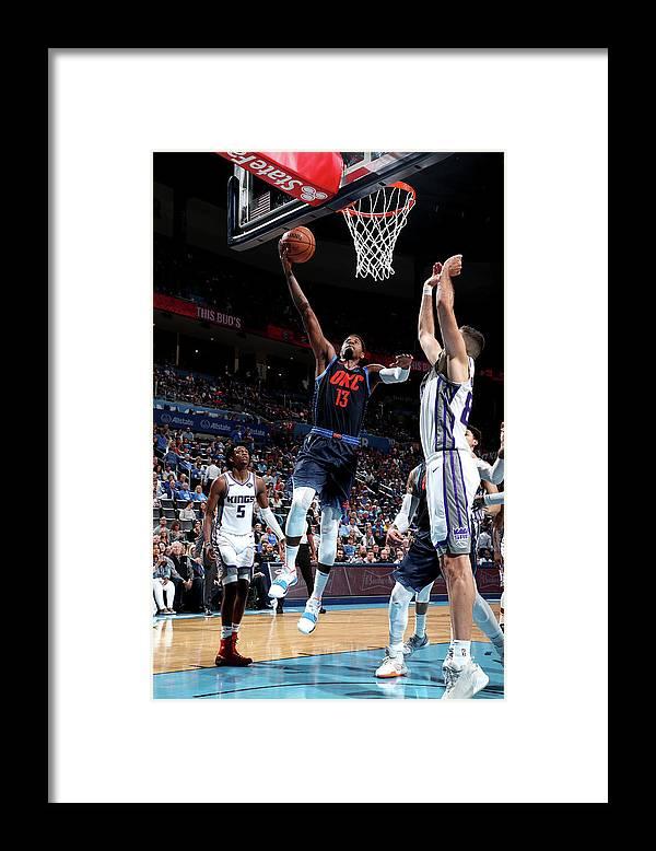 Nba Pro Basketball Framed Print featuring the photograph Paul George by Joe Murphy