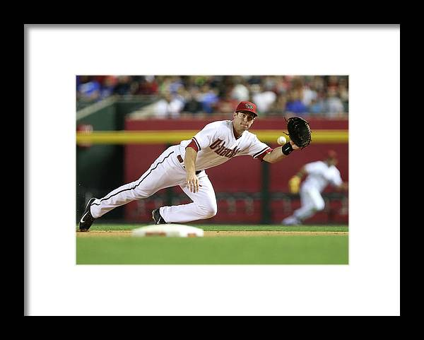Catching Framed Print featuring the photograph Paul Goldschmidt by Christian Petersen