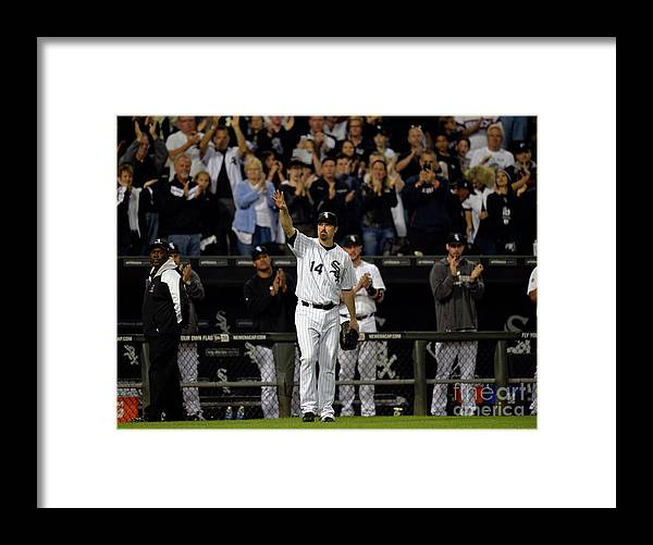 Crowd Framed Print featuring the photograph Paul Konerko by Brian Kersey