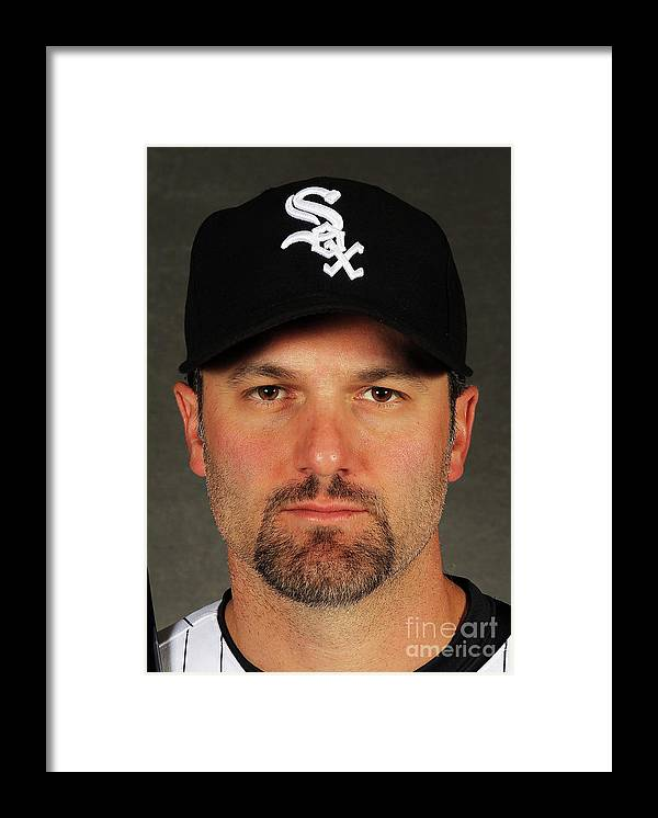 Media Day Framed Print featuring the photograph Paul Konerko by Jamie Squire