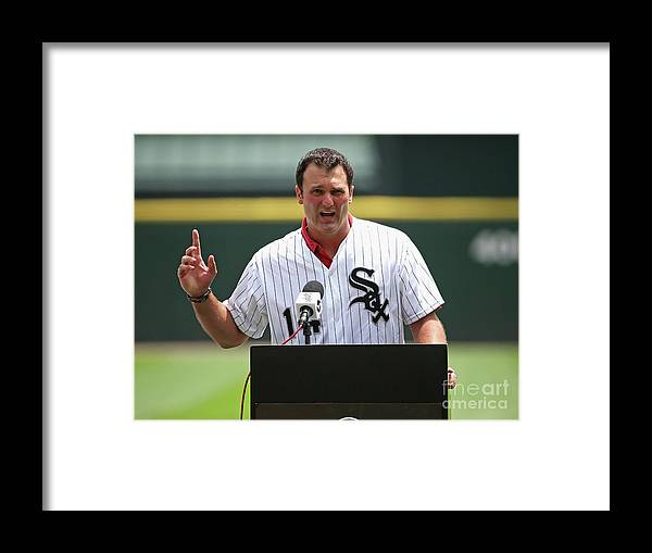 Crowd Framed Print featuring the photograph Paul Konerko by Jonathan Daniel