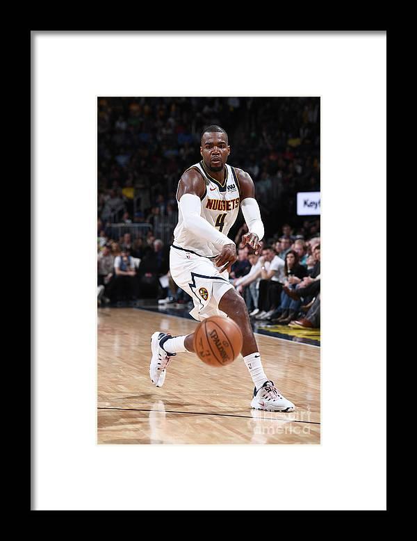 Nba Pro Basketball Framed Print featuring the photograph Paul Millsap by Garrett Ellwood
