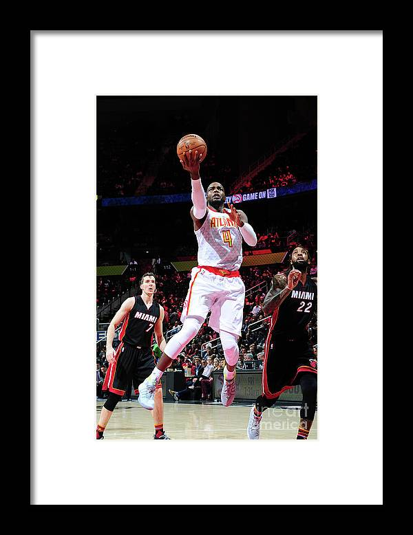 Atlanta Framed Print featuring the photograph Paul Millsap by Scott Cunningham