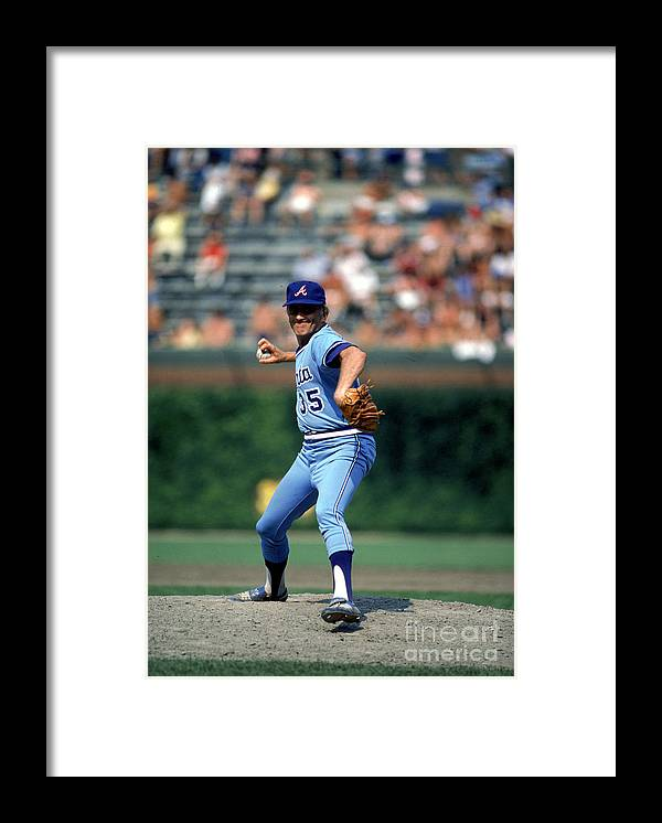 1980-1989 Framed Print featuring the photograph Phil Niekro by Rich Pilling
