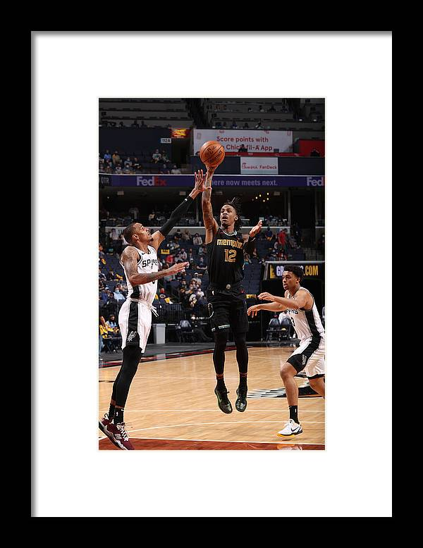Nba Pro Basketball Framed Print featuring the photograph Play-In Tournament - San Antonio Spurs v Memphis Grizzlies by Joe Murphy