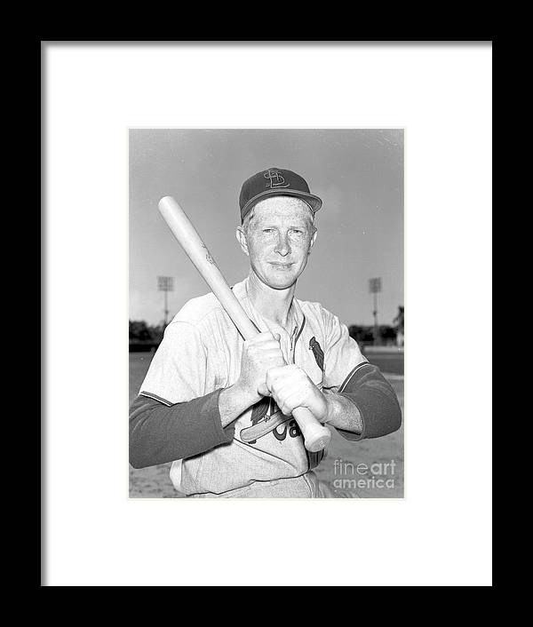 St. Louis Cardinals Framed Print featuring the photograph Red Schoendienst by Kidwiler Collection