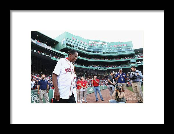 Three Quarter Length Framed Print featuring the photograph Rod Carew by Maddie Meyer