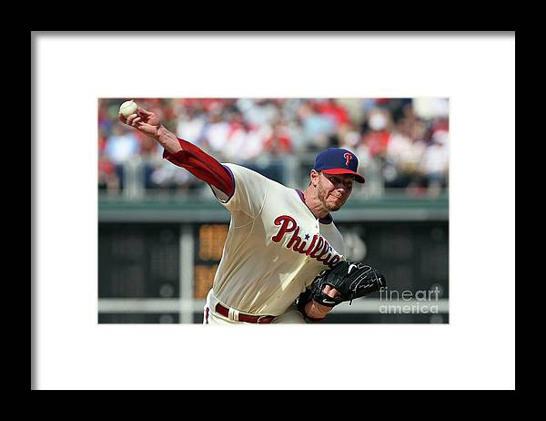 Citizens Bank Park Framed Print featuring the photograph Roy Halladay by Jim Mcisaac
