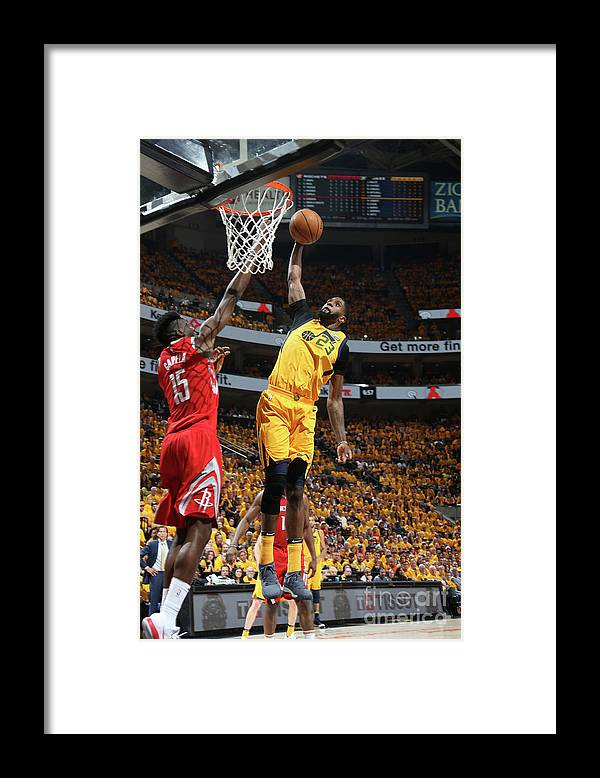 Playoffs Framed Print featuring the photograph Royce O'neale by Melissa Majchrzak