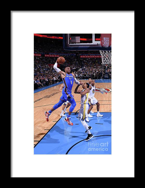 Nba Pro Basketball Framed Print featuring the photograph Russell Westbrook by Garrett Ellwood