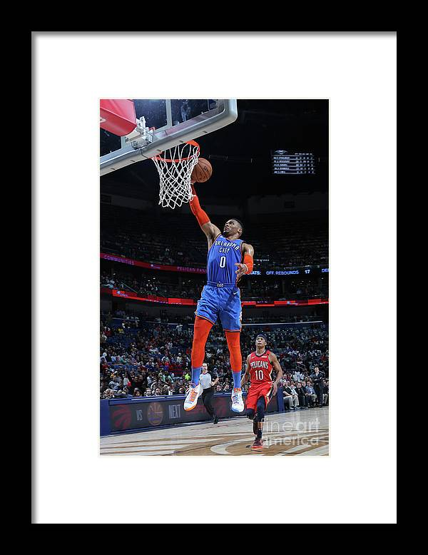Smoothie King Center Framed Print featuring the photograph Russell Westbrook by Layne Murdoch Jr.