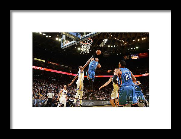 Nba Pro Basketball Framed Print featuring the photograph Russell Westbrook by Noah Graham
