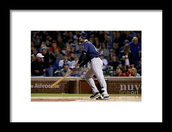 People Framed Print featuring the photograph Ryan Braun by Dylan Buell