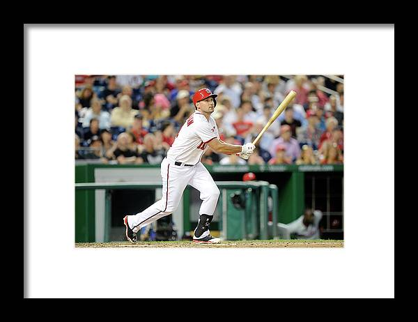 American League Baseball Framed Print featuring the photograph Ryan Zimmerman by Greg Fiume