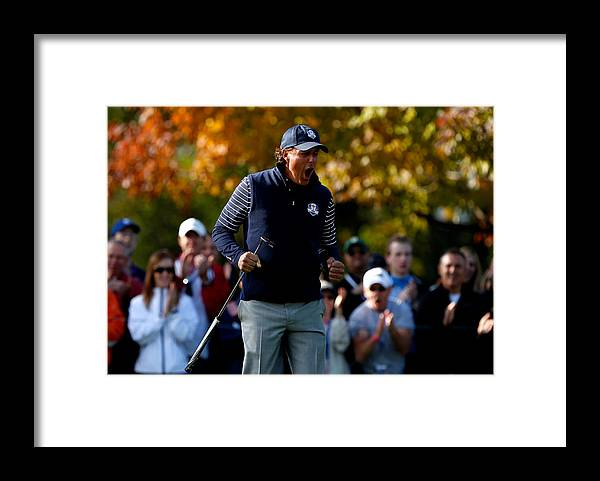 Ninth Hole Framed Print featuring the photograph Ryder Cup - Day Two Foursomes by Jamie Squire