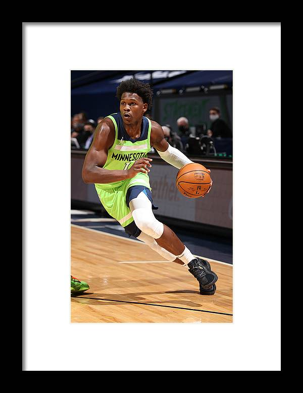 Nba Pro Basketball Framed Print featuring the photograph San Antonio Spurs v Minnesota Timberwolves by David Sherman
