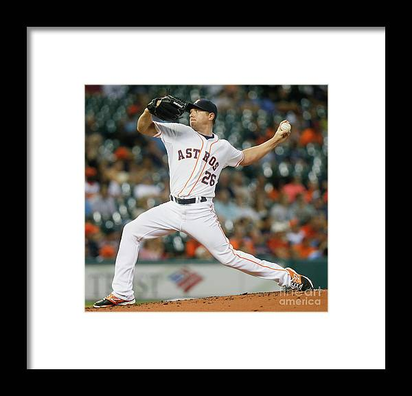 People Framed Print featuring the photograph Scott Kazmir by Bob Levey