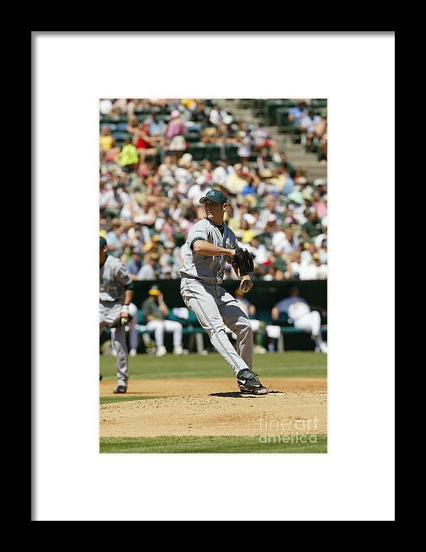American League Baseball Framed Print featuring the photograph Scott Kazmir by Don Smith