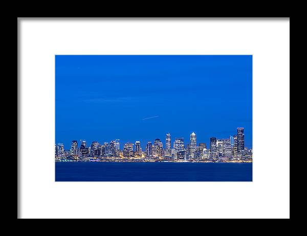 Seattle Center Framed Print featuring the photograph Seattle Skyline, Usa, Washington, Seattle by Malorny