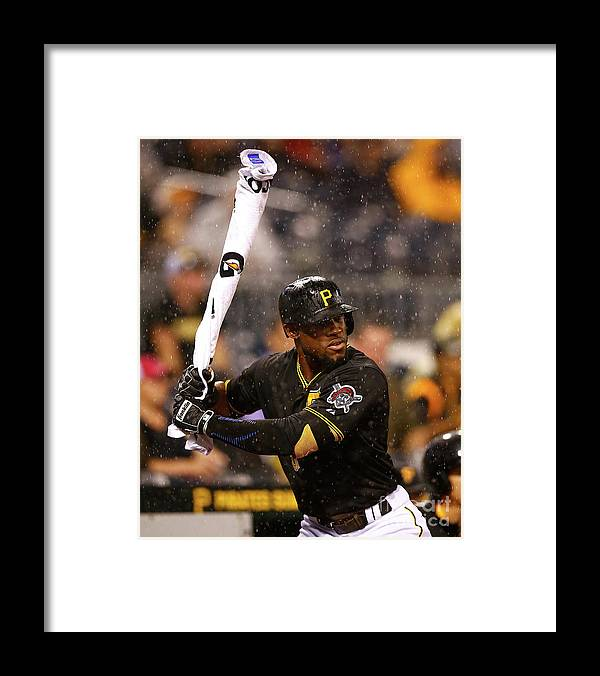 On-deck Circle Framed Print featuring the photograph Starling Marte by Jared Wickerham